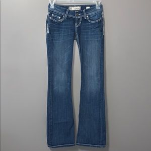 BKE star lite flare bottom jeans W/25L L/33.5